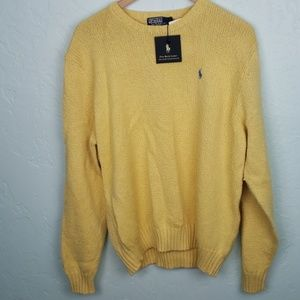 Polo Ralph Lauren yellow cotton sweater NWT